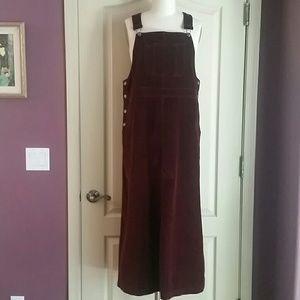 Eddie Bauer Burgundy Overall Dress M